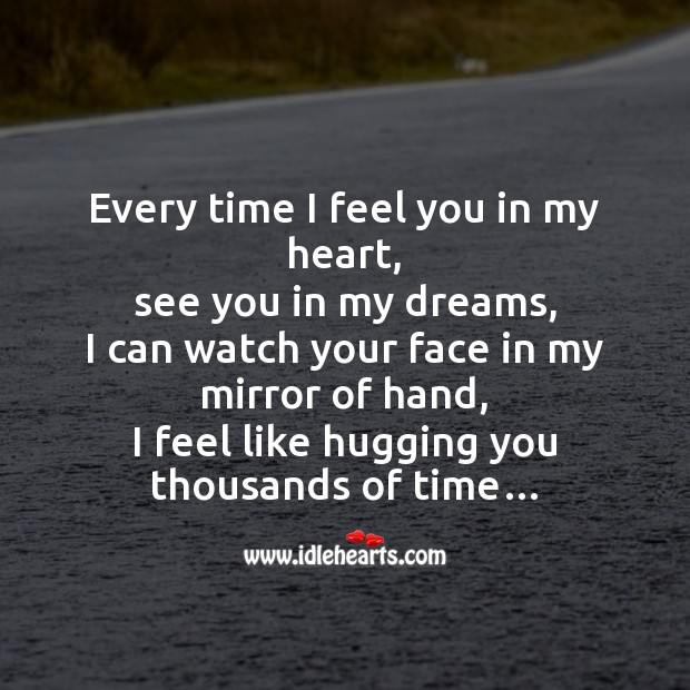 Image, Every time I feel you in my heart