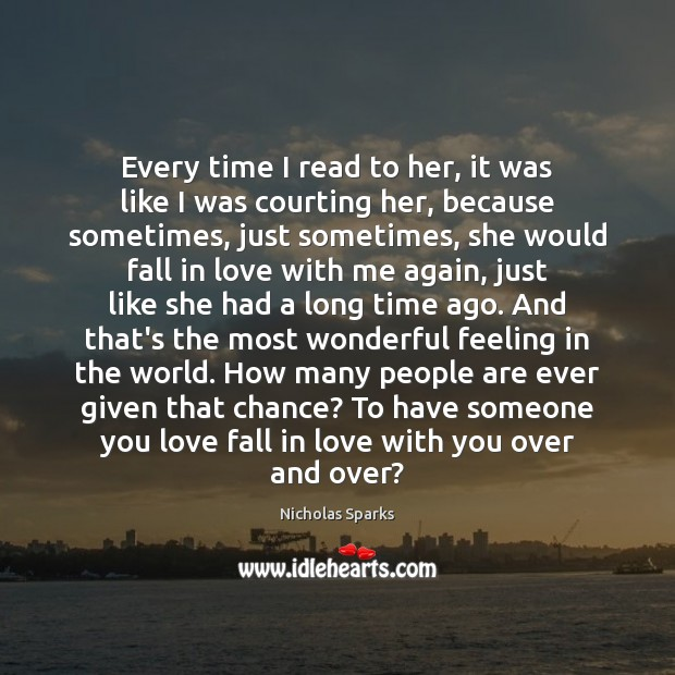Every time I read to her, it was like I was courting Image