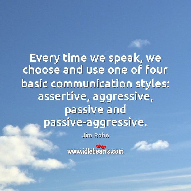 Image, Every time we speak, we choose and use one of four basic