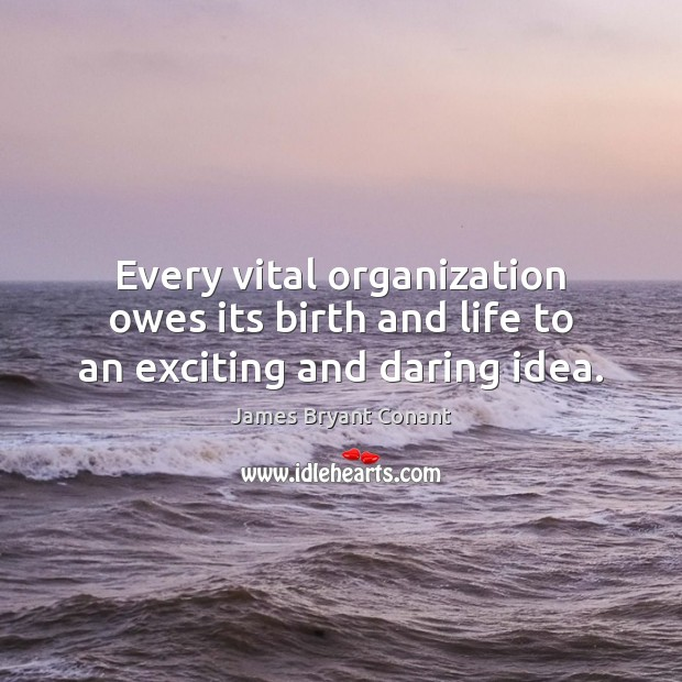 Image, Every vital organization owes its birth and life to an exciting and daring idea.
