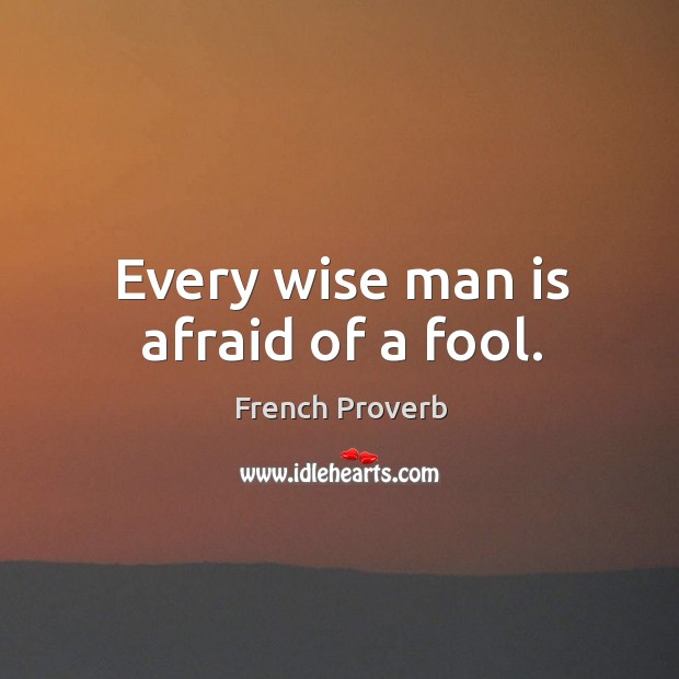 Image, Every wise man is afraid of a fool.