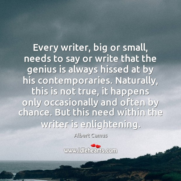 Every writer, big or small, needs to say or write that the Image