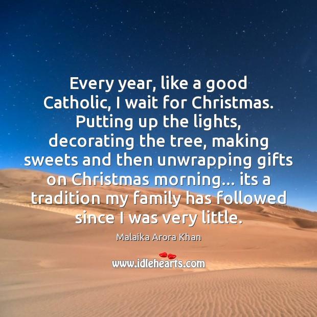 Every year, like a good Catholic, I wait for Christmas. Putting up Image