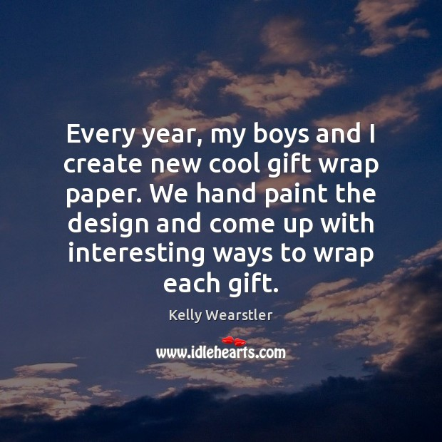 Image, Every year, my boys and I create new cool gift wrap paper.