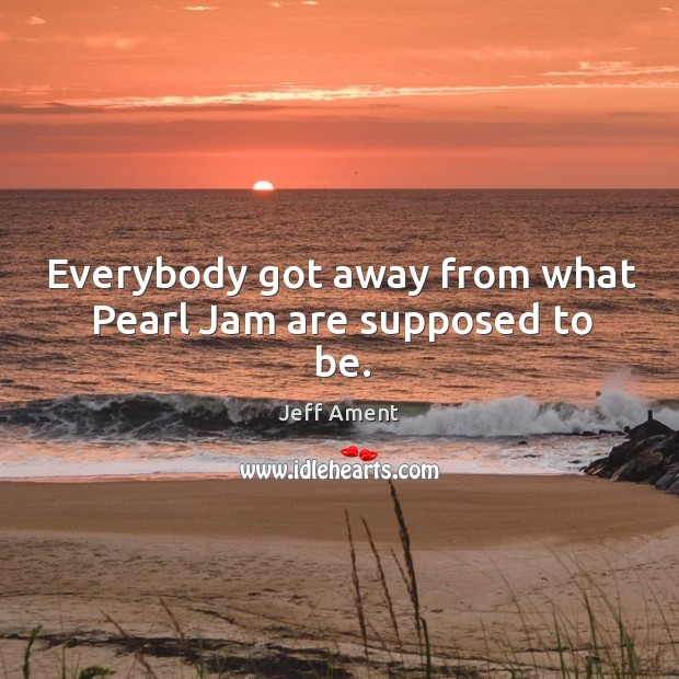 Everybody got away from what pearl jam are supposed to be. Image