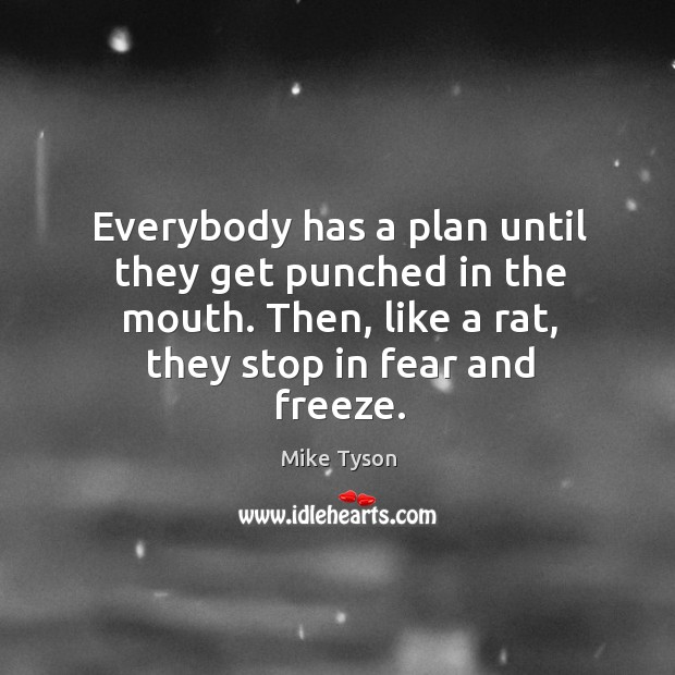 Image, Everybody has a plan until they get punched in the mouth. Then,