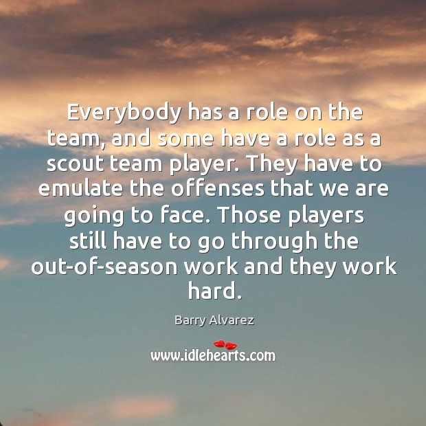 Image, Everybody has a role on the team, and some have a role