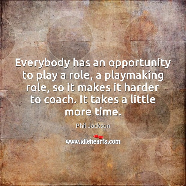 Everybody has an opportunity to play a role, a playmaking role, so Image