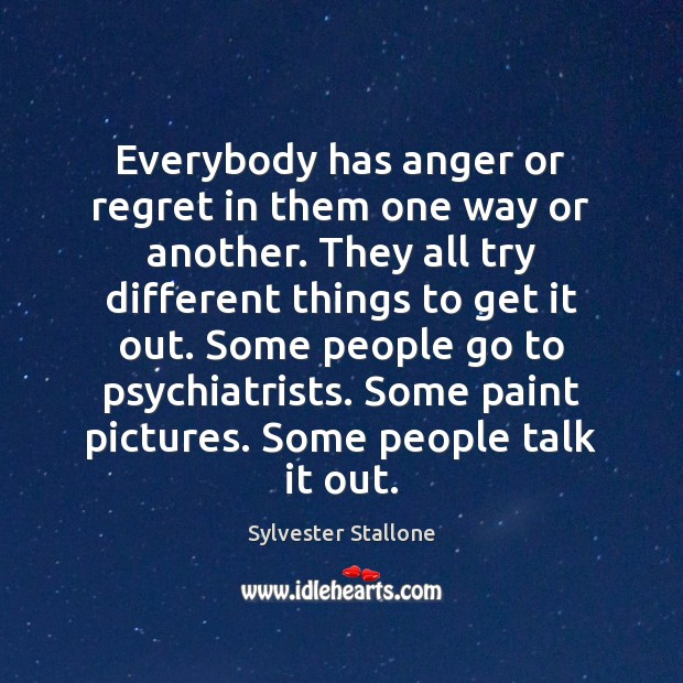 Everybody has anger or regret in them one way or another. They Image