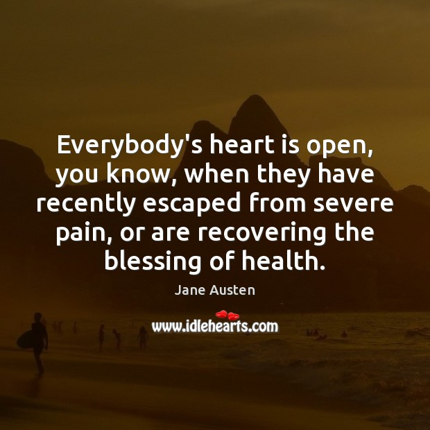 Image, Everybody's heart is open, you know, when they have recently escaped from