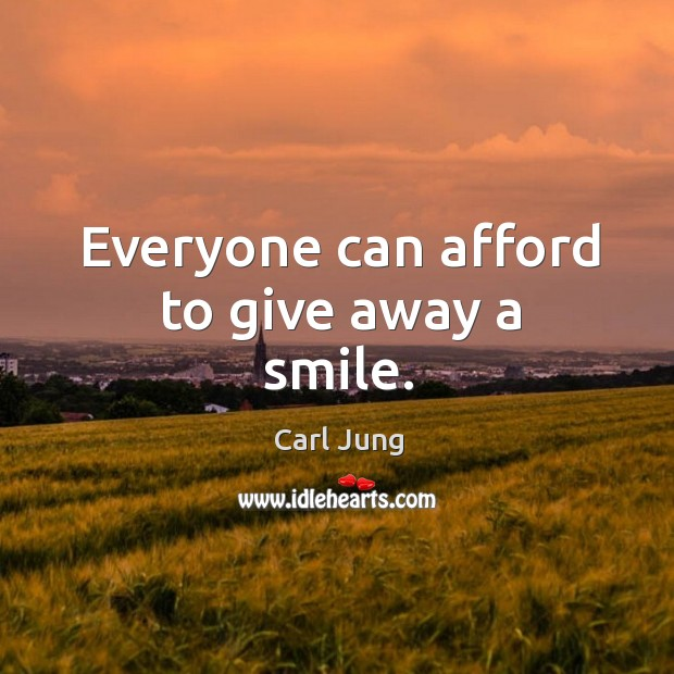 Image, Everyone can afford to give away a smile.