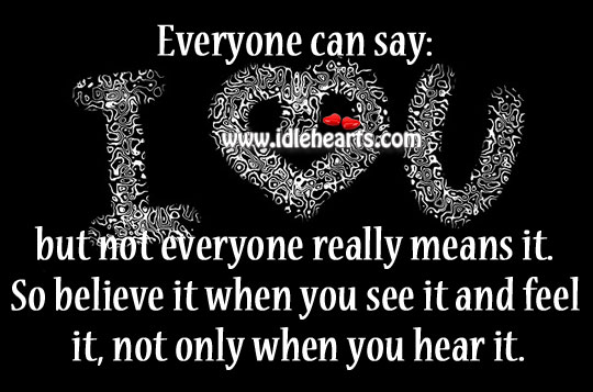 "Everyone Can Say: ""I Love You"","