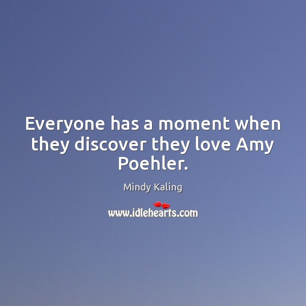 Everyone has a moment when they discover they love Amy Poehler. Image