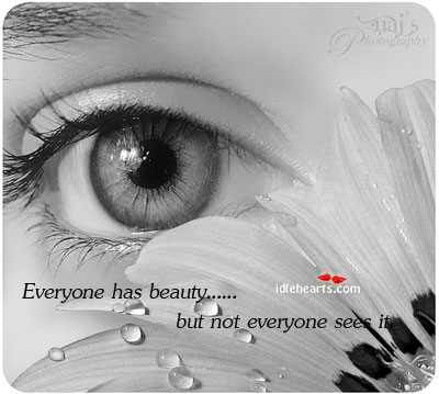 Everyone Has Beauty….But Not Everyone Sees It.