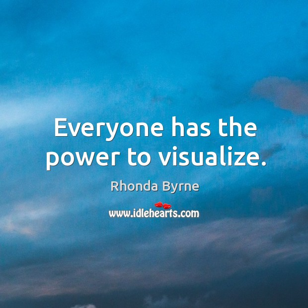 Image, Everyone has the power to visualize.