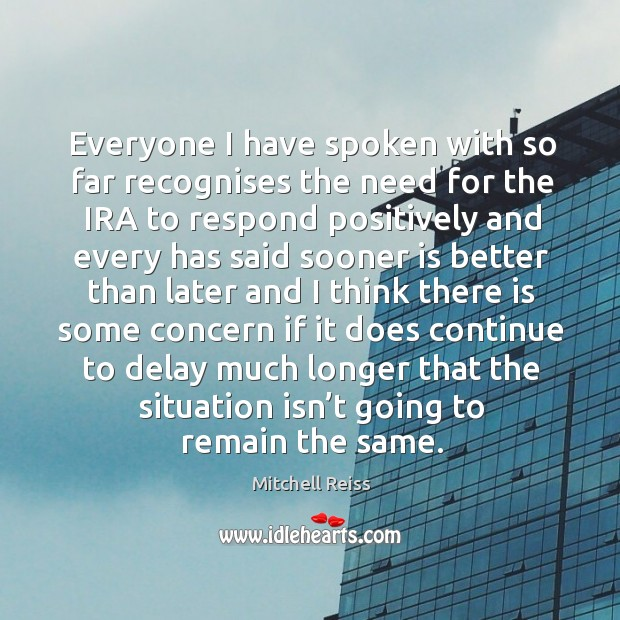 Everyone I have spoken with so far recognises the need for the ira to Image