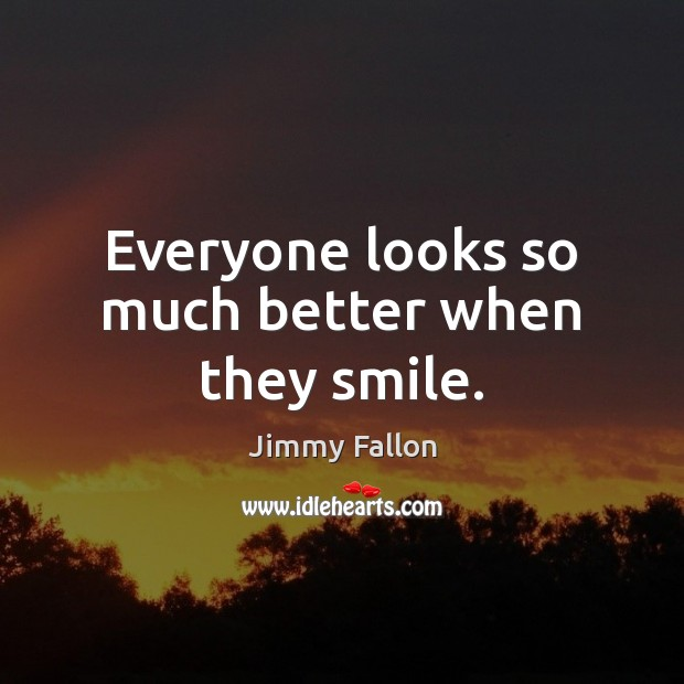 Everyone looks so much better when they smile. Image