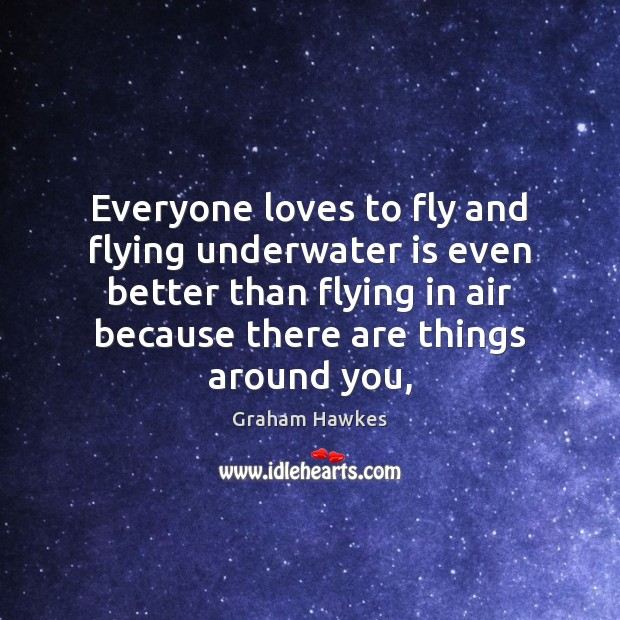 Everyone loves to fly and flying underwater is even better than flying Image