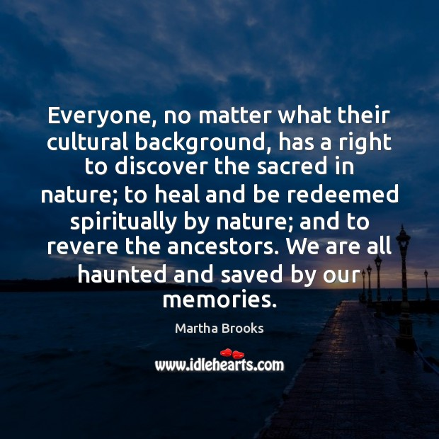 Everyone, no matter what their cultural background, has a right to discover Image