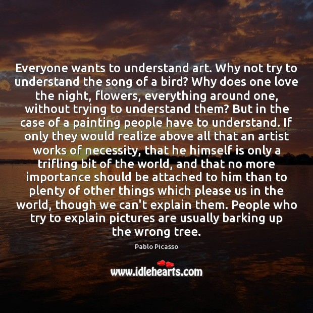 Image, Everyone wants to understand art. Why not try to understand the song