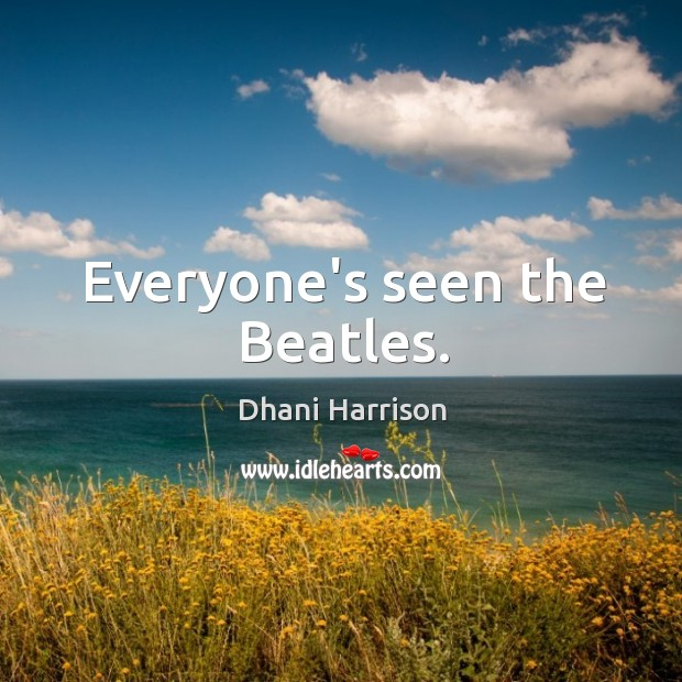 Everyone's seen the Beatles. Image