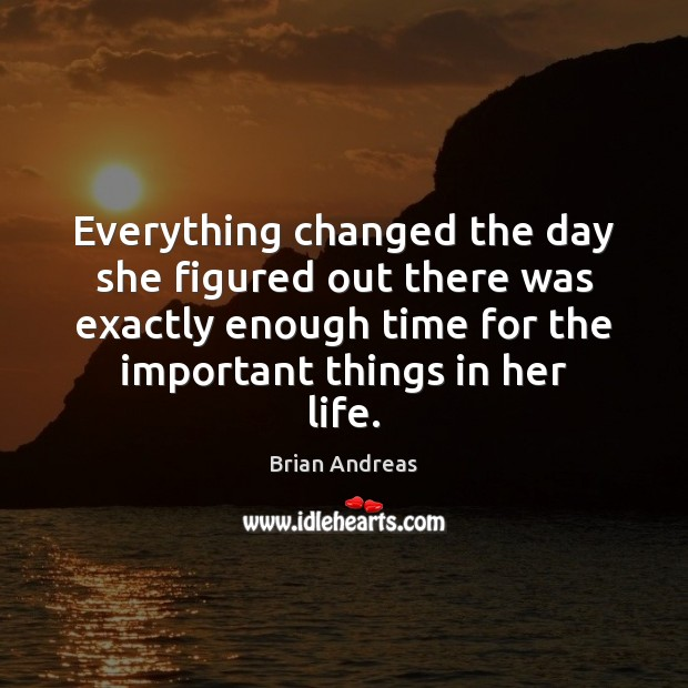 Everything changed the day she figured out there was exactly enough time Image
