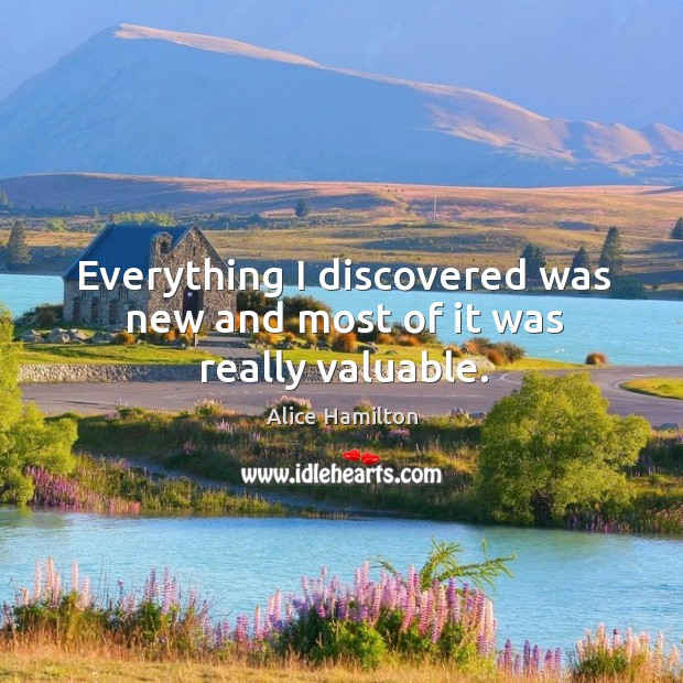 Everything I discovered was new and most of it was really valuable. Image