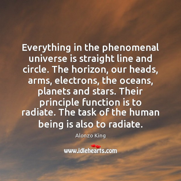 Image, Everything in the phenomenal universe is straight line and circle. The horizon,