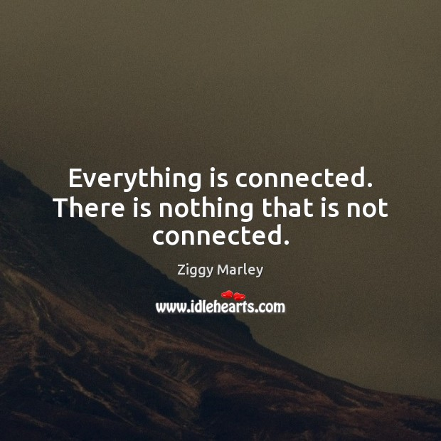 Everything is connected. There is nothing that is not connected. Image