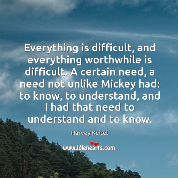 Image, Everything is difficult, and everything worthwhile is difficult.