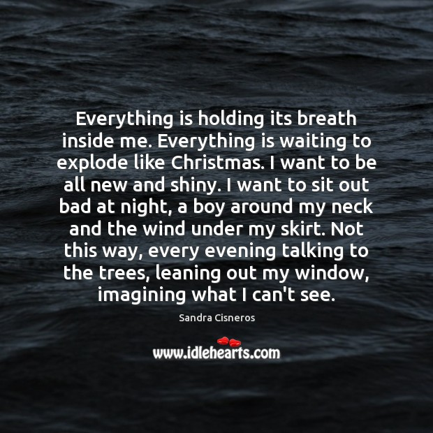 Everything is holding its breath inside me. Everything is waiting to explode Image