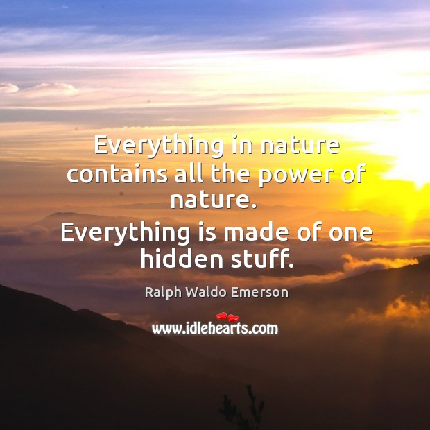 Image, Everything is made of one hidden stuff.