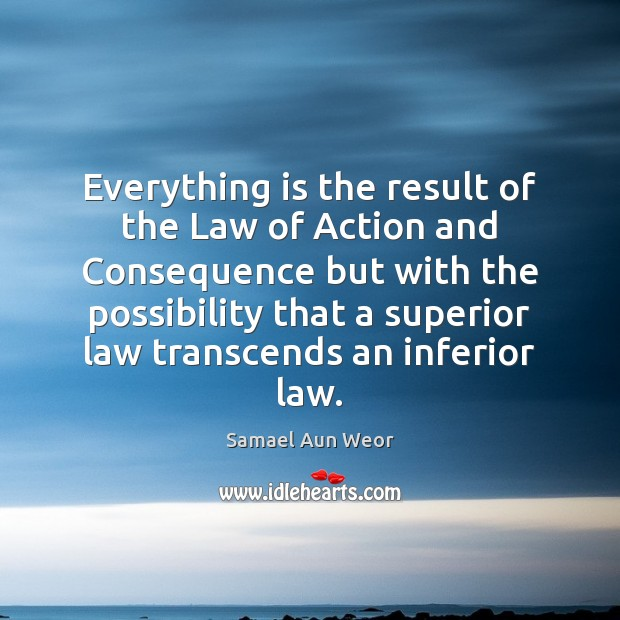 Everything is the result of the Law of Action and Consequence but Image