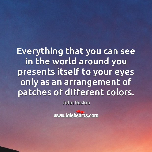 Everything that you can see in the world around you presents itself Image
