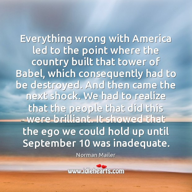 Everything wrong with America led to the point where the country built Image