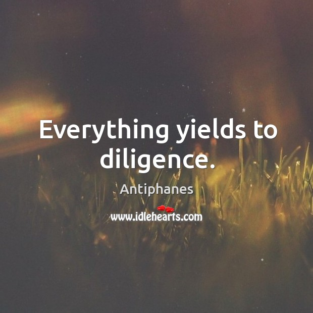 Image, Everything yields to diligence.