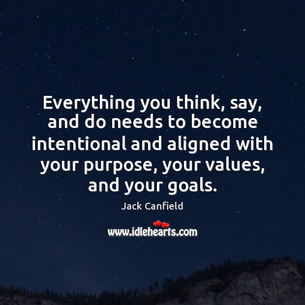 Image, Everything you think, say, and do needs to become intentional and aligned