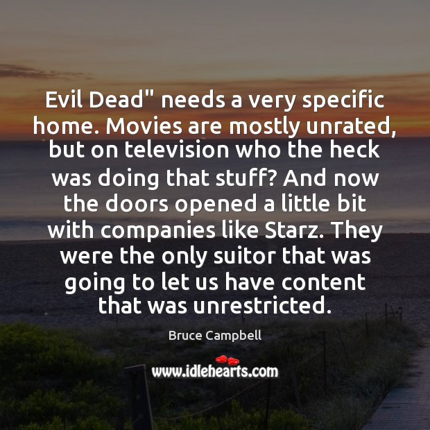 "Image, Evil Dead"" needs a very specific home. Movies are mostly unrated, but"