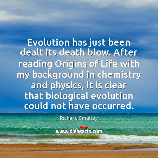 Evolution has just been dealt its death blow. After reading Origins of Image