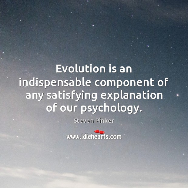 Evolution is an indispensable component of any satisfying explanation of our psychology. Image