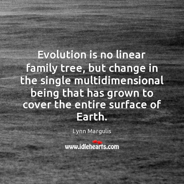 Image, Evolution is no linear family tree, but change in the single multidimensional