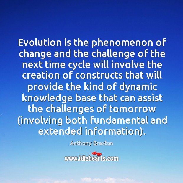 Image, Evolution is the phenomenon of change and the challenge of the next