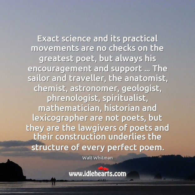 Image, Exact science and its practical movements are no checks on the greatest