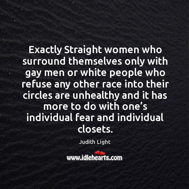 Exactly straight women who surround themselves only with gay men Image