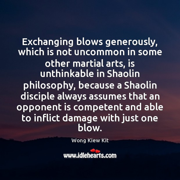 Image, Exchanging blows generously, which is not uncommon in some other martial arts,