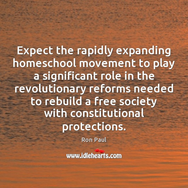 Image, Expect the rapidly expanding homeschool movement to play a significant role in