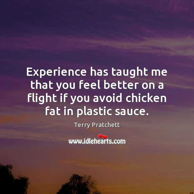 Image, Experience has taught me that you feel better on a flight if