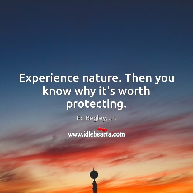 Experience nature. Then you know why it's worth protecting. Image