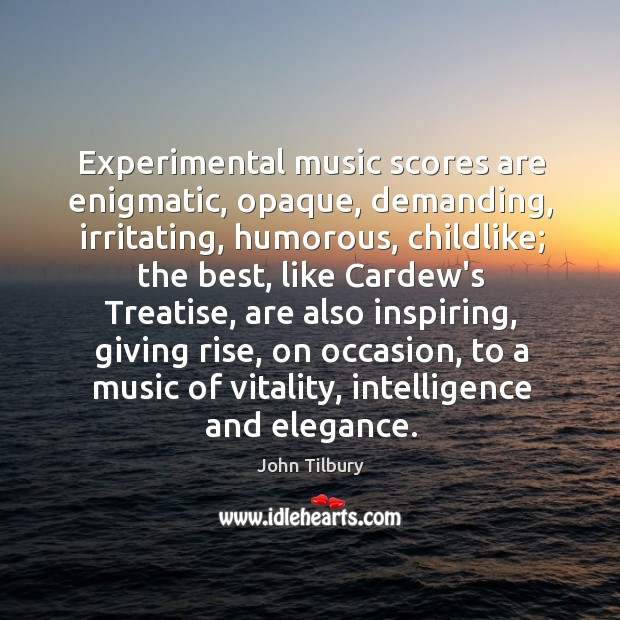 Experimental music scores are enigmatic, opaque, demanding, irritating, humorous, childlike; the best, Image