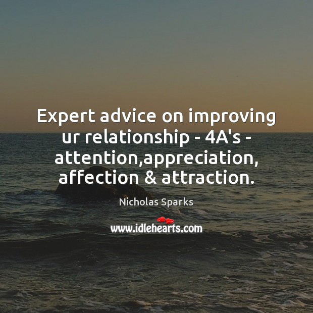 Image, Expert advice on improving ur relationship – 4A's – attention,appreciation, affection &